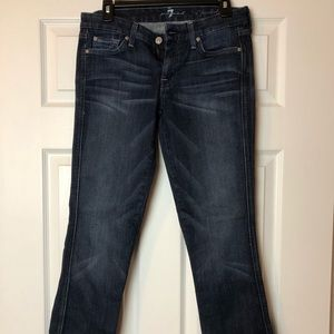 7 For All Mankind Jeans - 7 for all Mankind denim, dark wash.